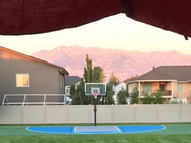 neighborhood basketball court